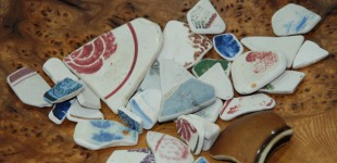 Shards of Pottery collected along the Fife Coastal Path